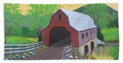Glenda's Covered Bridge Beach Towel