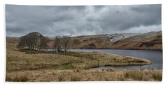 Beach Towel featuring the photograph Glendevon Reservoir In Scotland by Jeremy Lavender Photography