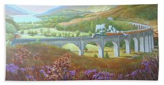 Glenfinnan Viaduct Beach Towel
