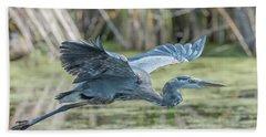 Gliding Over The Wetlands... Beach Towel