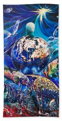 Planet  Earth - Our Family Tree Beach Towel