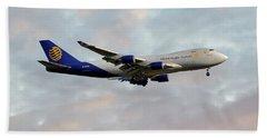 Global Supply Sysytems  Boeing 747-47uf Beach Towel