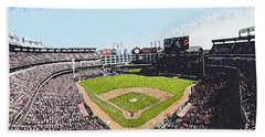 Globe Life Park In Arlington Beach Towel