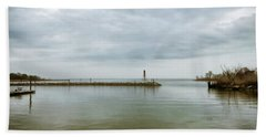 Gloom On The Bay Beach Sheet