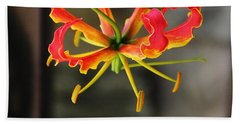 Gloriosa Lily Beach Towel