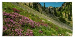 Glorious Mountain Heather Beach Towel