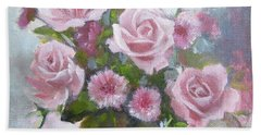 Glorious Roses Beach Sheet by Chris Hobel