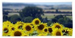 Glorious Sunflowers Beach Sheet