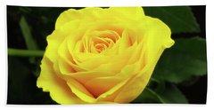 Glorious Yellow Rose Beach Towel