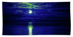 Glow In The Dark Amazing Sunset  Beach Towel