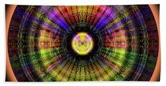 Beach Towel featuring the digital art Glow Wheel Eight by Visual Artist Frank Bonilla