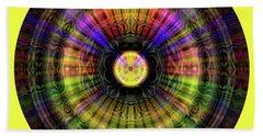 Beach Towel featuring the digital art Glow Wheel Nine by Visual Artist Frank Bonilla