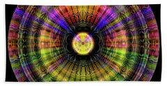 Beach Towel featuring the digital art Glow Wheel One by Visual Artist Frank Bonilla