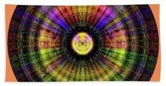 Beach Towel featuring the digital art Glow Wheel Seven by Visual Artist Frank Bonilla