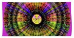 Beach Towel featuring the digital art Glow Wheel Three by Visual Artist Frank Bonilla