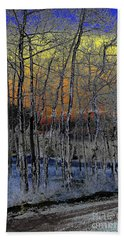 Glowing Aspens At Dusk Beach Towel