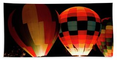 Glowing Balloons Beach Towel