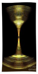 Glowing Brass Lamp Stand Beach Towel