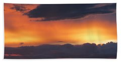 Glowing Clouds Beach Towel