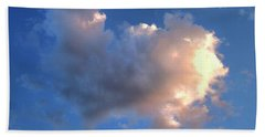 Glowing Heart Cloud Beach Towel by Michael Rock