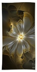 Glowing In Silver And Gold Beach Towel