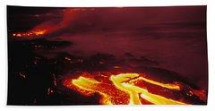 Glowing Lava Flow Beach Towel