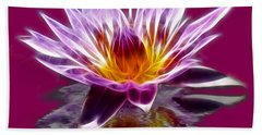 Glowing Lilly Flower Beach Towel