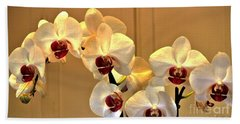 Glowing Orchids Beach Towel