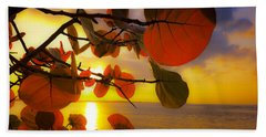 Glowing Red II Beach Towel by Stephen Anderson