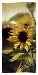 Beach Towel featuring the photograph Glowing Sun by John Rivera