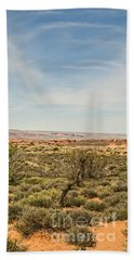 Gnarled Juniper Tree In Arches Beach Towel