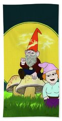 Beach Towel featuring the digital art Gnome Sweet Gnome by John Haldane