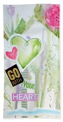 Go With Your Heart Beach Sheet