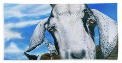 Goats Of St. Martin Beach Towel