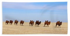 Gobi Camels Beach Towel