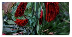 Beach Towel featuring the digital art Goblet Of Roses by Aliceann Carlton