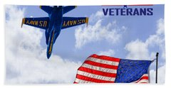 God Bless Our Veterans Beach Towel