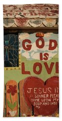 God Is Love Beach Sheet by Ralph Vazquez