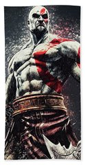 God Of War - Kratos Beach Towel by Taylan Apukovska