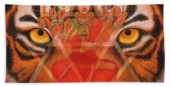 Goddess Durga Beach Towel