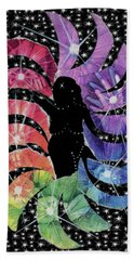 Beach Towel featuring the mixed media Goddess by Kym Nicolas