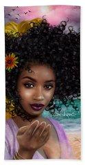 Goddess Oshun Beach Sheet