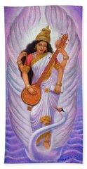 Goddess Saraswati Beach Towel