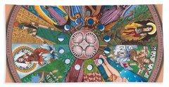 Goddess Wheel Guadalupe Beach Sheet by James Roderick