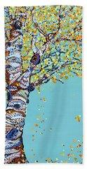 Godlen Days  Beach Towel by Erika Pochybova