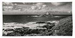 Godrevy Lighthouse 1 Beach Towel