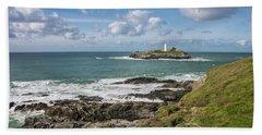 Godrevy Lighthouse 3 Beach Towel