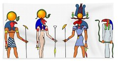 Gods And Goddess Of Ancient Egypt Beach Sheet