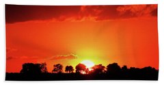 God's Gracful Sunset Beach Towel by J L Zarek