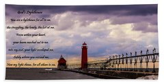 God's Lighthouse Beach Towel